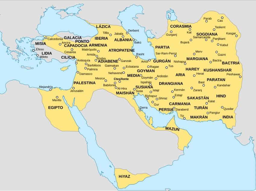 imperio sasanida 226 651 hacia el año 620